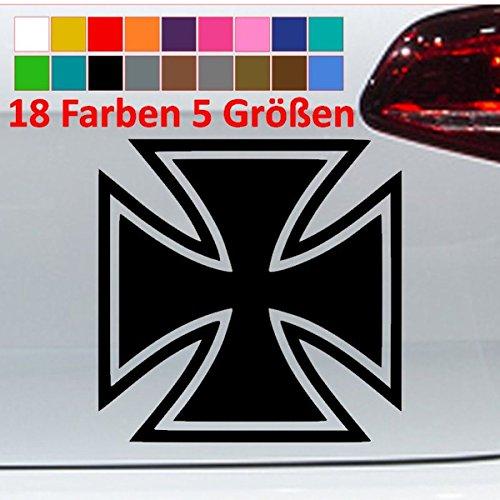 Generic Eisernes Kreuz Aufkleber Orden Golf GTI Auto Sticker JDM VW 18 Farben 5 Größen