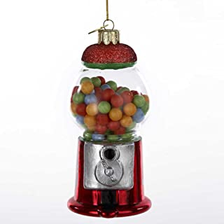 Kurt-Adler Glass Ornament with S-Hook and Gift Box, Foods Collection (Gumball Machine, NB0549)