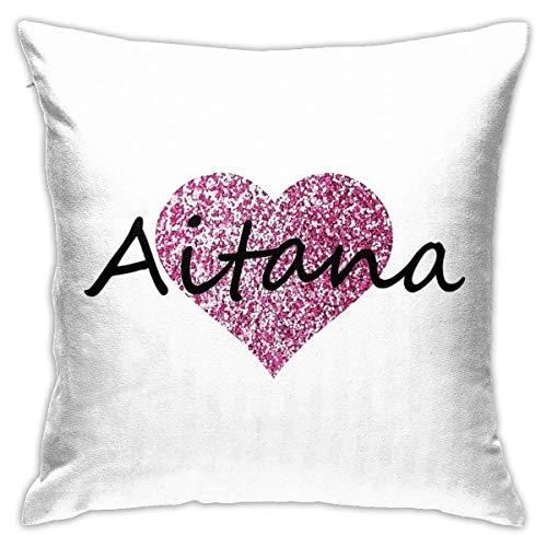asdew987 Funda de almohada de microfibra ultrasuave, fundas de cojín Aitana, decorativa, para sofá, dormitorio, funda de almohada de 45,7 x 45,7 cm