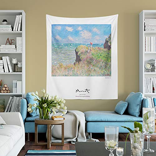 PPOU Pequeño Paisaje de Monet Pintura Abstracta Arte Colgante de Pared Hermoso Paisaje decoración de Sala de Estar Manualidades A8 150x200cm