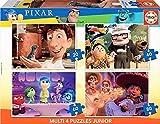 Educa- Multi 4 Junior Puzzle Infantil Pixar: Ratatouille, Up, Intensamente y Coco de 20,40,60 y 80 Piezas, a Partir de 5 años (18625)