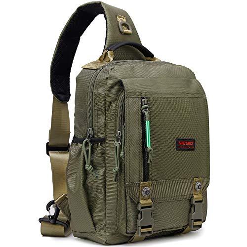 Sling Bags Chest Shoulder Backpacks, 13.3-Inch Laptop Backpack Crossbody Messenger Bag Travel...