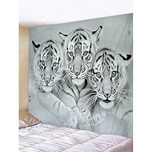 Zbzmm Tapijt, muurkunst, decoratief wandbehang, tijgerprint, strandlaken 200x150cm