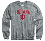Ivysport Indiana University Hoosiers Crewneck Sweatshirt, Heritage, Charcoal Grey, Medium