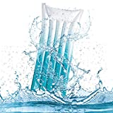 CYSJ Tumbona Inflable para Piscina Hamacas Inflables Cama Inflable Fila Cama Flotante Plegable Juguetes acuáticos para Piscinas Agua Hamaca for Adultos - Color Aleatorio