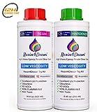 Asciugatura veloce (12H) Resina epossidica Trasparente per creazioni Effetto Acqua UV Resin4Decor Art Resin, 750 ml