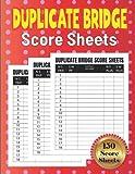 Duplicate Bridge Score Sheets: Large Duplicate Bridge Score Pads