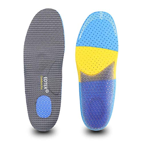 Edterインソール 人間工学に基づいた衝撃吸収 立ち仕事 通気 抗菌防臭 靴 サイズ調整でき クッション 中敷き 疲労軽減 足首の痛み 男女兼用 (ED-GJ(S:22.5~24.5cm))