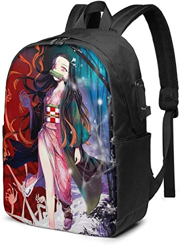 Kama-Do Nezu-Ko Rucksack Studententasche mit USB-Ladeanschluss, 43,2 cm Reisetasche