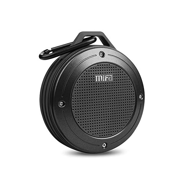 Bluetooth Speaker, MIFA F10 Portable Speaker with Enhanced 3D Stereo Bass Sound, IP56 Dustproof Waterproof, 10-Hour Playtime, Built-in Mic, Micro SD Card Slot, USB Audio Input 3