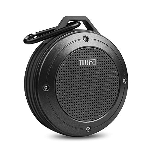 MIFA F10 Bluetooth Speaker, Poratble Wireless DSP 3D Stereo Bass Sound, 10-Hour Playtime, IP56 Waterproof, Built-in Mic