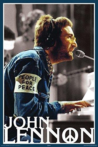 Aquarius NMR Laminated John Lennon People 4 Peace Poster 24 x 36in