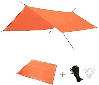 10 x 10 Feet Camping Tarps, Waterproof Tent Tarp, Hanmmock Cover for Picnics, Tent Footprint and Sunshade, Multi-Purpose T...