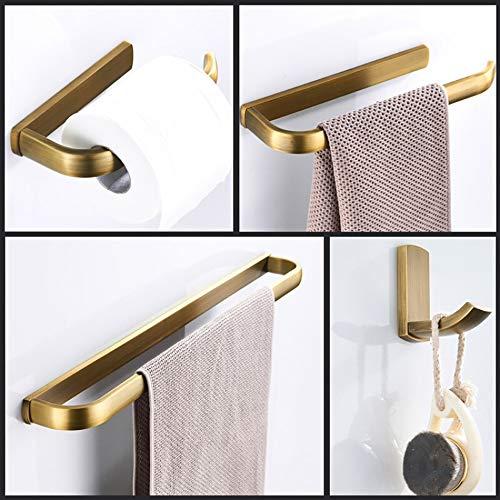 4-teiliges Badezimmerzubehörset Wandhalterung inklusive Toilettenpapierhalter Handtuchhalter Kleiderhaken Handtuchhalter Antikes bronzegebürstetes Kupfer