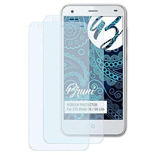 Bruni Schutzfolie kompatibel mit ZTE Blade S6 / S6 Lite Folie, glasklare Bildschirmschutzfolie (2X)