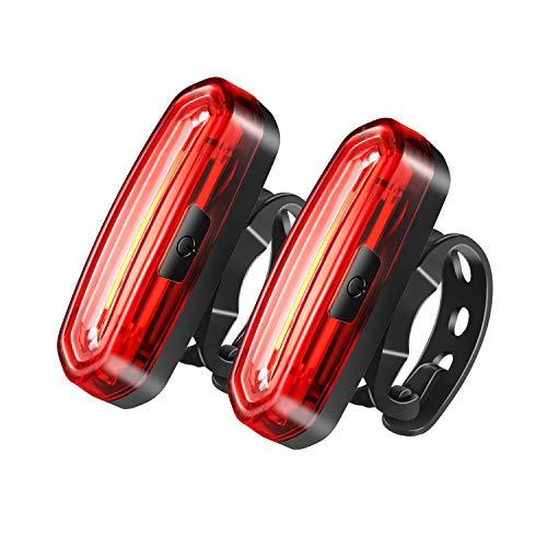 CELIFE 58 LED USB Wiederaufladbar Rückleuchten für Fahrrad, 2 PCS IP67 Wasserdicht 6 Leistungsstufen 650AH Luminose Rücklicht für Straßenfahrräder und Montage.