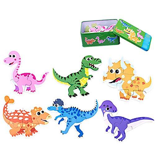 Juguetes educativos para niños Jigsaw   del bebé niños de madera de aprendizaje Juguetes educativos Juguetes Animal Kids dinosaurio de madera del coche rompecabezas juego Jigsaw juego Ejercita tu cere