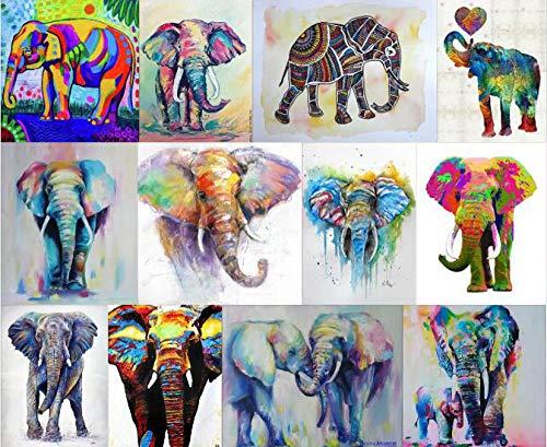 Safiman Rompecabezas Adultos 300, Colección Colorida del Elefante, Decoración para El Juego De Juguetes para El Hogar, 38X26Cm