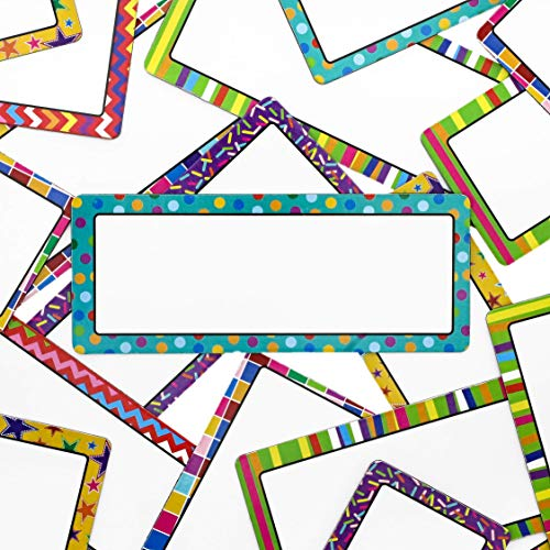 36 Pack Magnetic Classroom Name Tags Labels for Whiteboards, 2 x 5 Inches