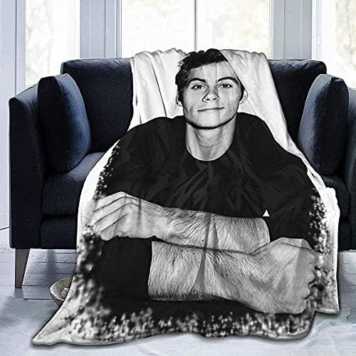 Dylan O'Brien Manta de aire acondicionado, manta de estudiante suave impresión térmica manta infantil 60 x 50 pulgadas