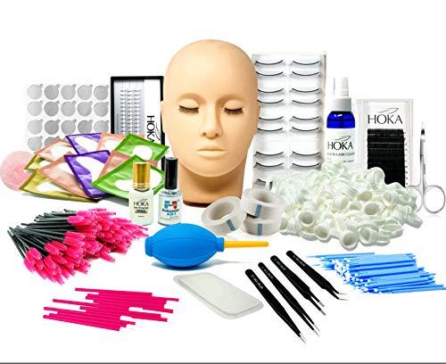 Kit De Extensión De Pestañas mcwdoit, Entrenamiento De Cabeza De Maniquí Profesional Para Principiantes Extensiones De Pestañas Practique Cosmetología Estética