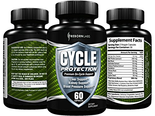 Cycle Support Supplement - Liver Cleanse, Estrogen Blocker, Organ Support | Premium On Cycle PCT Support Formula | With Zinc as Natural Aromatase Inhibitor & Testosterone Booster for Men | 60 Capsules