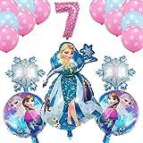 wysjlxcy Globo 18pcs / Set 16 Pulgadas El número de los impulsos Elsa y Anna Princesa Tema del cumpleaños del Globo del Partido decoración de Las Bolas de la Boda Globos
