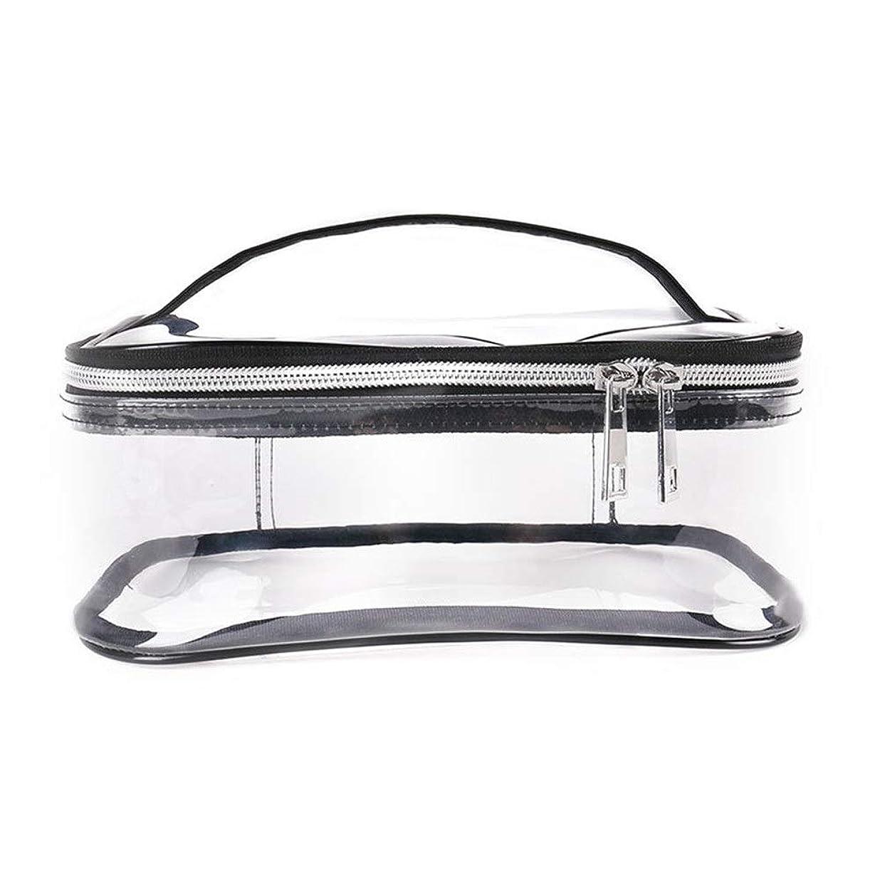 デコラティブ酔ってコイルKYAWJY ポータブルスクエアバッグ、環境に優しい透明化粧品バッグ、旅行大容量収納バッグ、防水収納バッグ、屋外ウォッシュバッグ