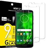 NEW'C Lot de 2, Verre Trempé Compatible avec Motorola Moto G6 (5,7'),Film Protection écran sans...