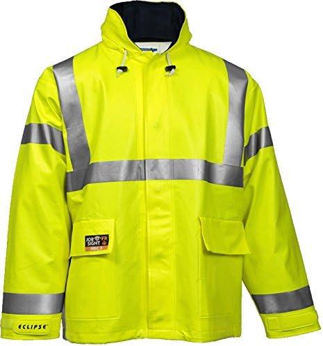 Eclipse Sales Arc Flash Rain Jacket Cat Green 2 L YLW Excellent