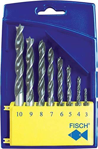 FISCH 01200008K Holzspiralbohrer-Kassette 0120 Bohrer ø 3-10 mm 8-teilig, 8 Stück