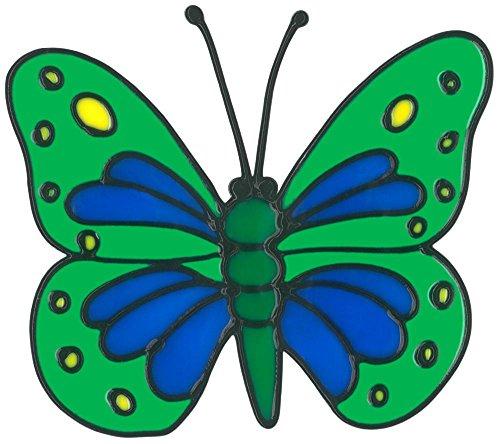 MagicGel raamafbeeldingen - vlinder (16 x 14 cm), raamdecoratie voor het knutselen met kinderen