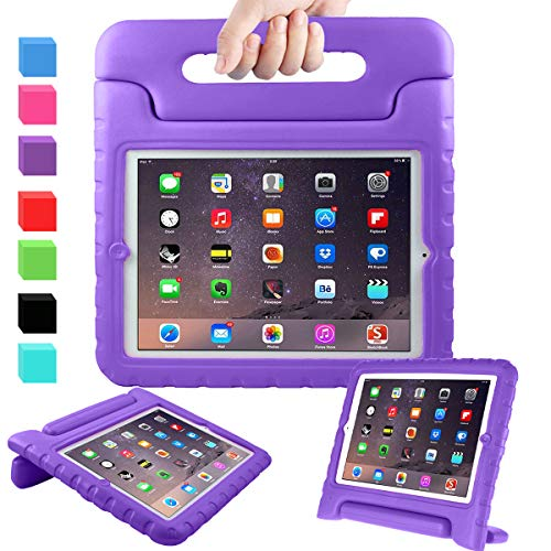 AVAWO Kids Case for 9.7' iPad 2 3 4 (Old Model) - Light Weight Shock Proof Convertible Handle Stand Kids Friendly for iPad 2, iPad 3rd Generation, iPad 4th Generation Tablet - Purple