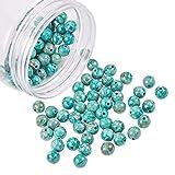 nbeads 1 Boîte 120Pcs / Boîte Naturel Turquoise Perles Per