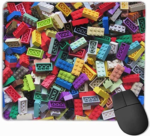 N\A Alfombrilla de ratón Lego con Base de Goma Antideslizante y Alfombrilla de ratón Impermeable con Bordes cosidos Alfombrillas de ratón para Ordenadores, portátiles, Juegos, Oficina y hogar