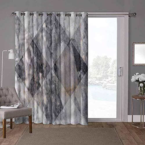 YUAZHOQI cortinas aisladas para puerta corredera, mármol, fachada geométrica de roca de 52 x 96 pulgadas de ancho persianas verticales para puerta de honda (1 panel)
