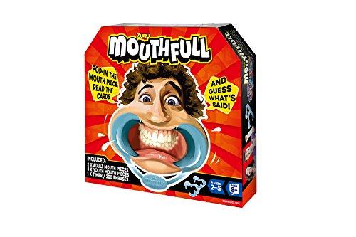 Zuru 6402 - Mouth Full, Familien- und Partyspiel für Groß und Klein, 5 Mundstücke, 100 Satzkarten und Sanduhr