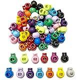 Maxure 65 piezas de resorte de plástico Alternar un solo orificio Cerraduras de cable Extremos de clip Redondo Forma de bola Equipaje...