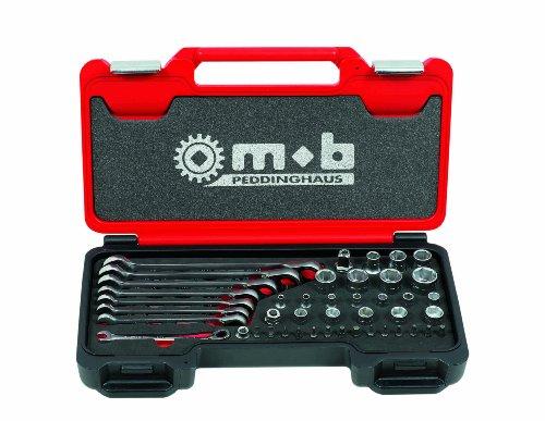 Peddinghaus Handwerkzeuge Vertriebs Fusion Box Medium Ratschenschlüssel / Stecknuss 1/4 mit 1/2 44-teilig, 9436044001