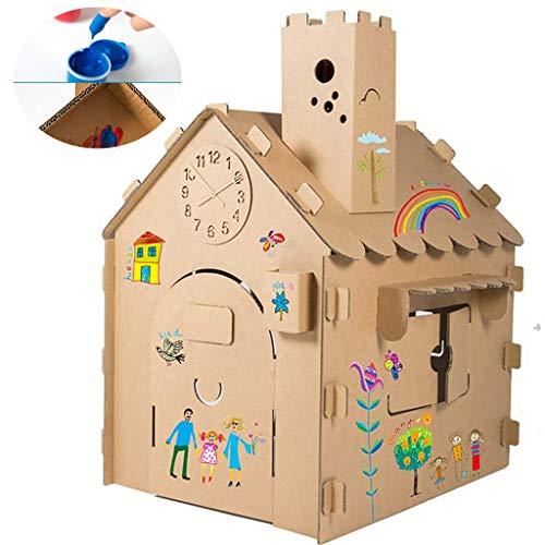 DIY-kleurspeelgoed, Extra Groot Spelhuis, Kindertent, Graffiti-creativiteit, Speelhuisje Voor Kinderen, Handgemaakt Binnenshuis Schilderen, Verbeelding Speelgoed, Speelhuis, Jongens Meisjes Cadeau