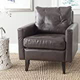 Safavieh Mercer Collection Mid Century Modern Caleb Club Chair, Antique Brown
