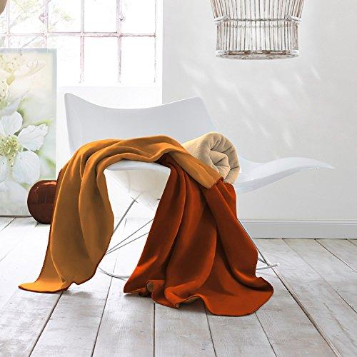 Biederlack Wohndecke Baumwollmischung rotfuchs Größe 150x200 cm