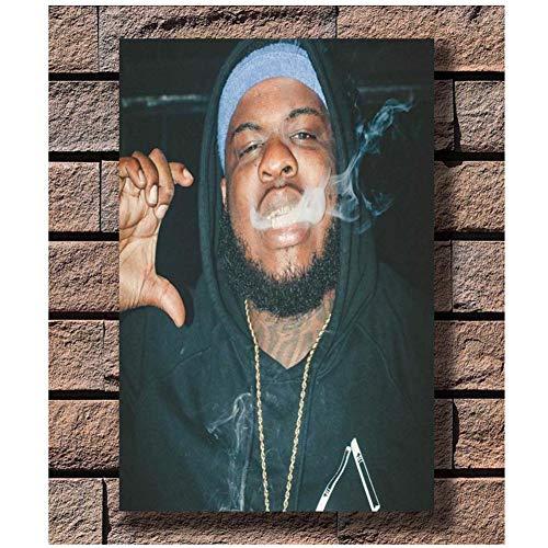 nr Carteles e Impresiones Maxo Kream Smoking Rap Music Star HotPoster Canvas Painting Home Decor-50x70cm Sin Marco