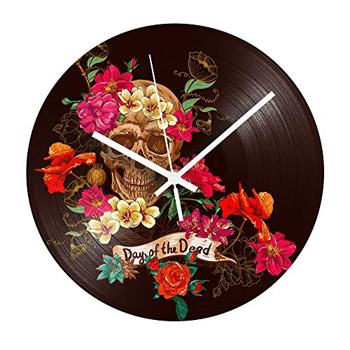 Flower Vintage Record Clock Rose Silent Vinyl Record Wall Clock Modern