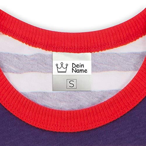 Namensschilder für Kleidung, Kindergarten, Schule (50 Stück) - Selbstklebend & Waschmaschinenfest