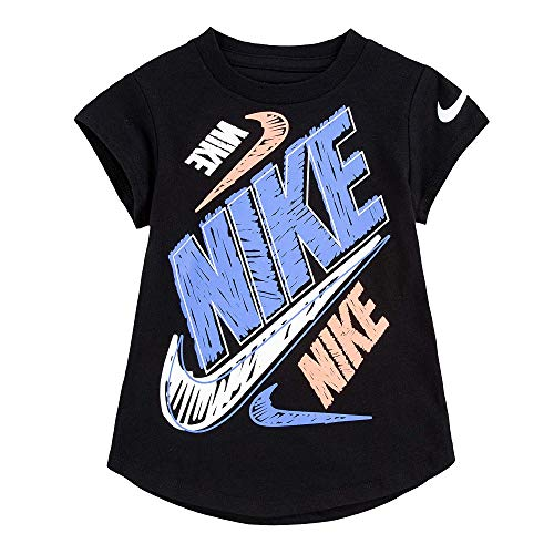 Nike Baby Girl's Short Sleeve Graphic T-Shirt (Toddler) Black 2T Toddler