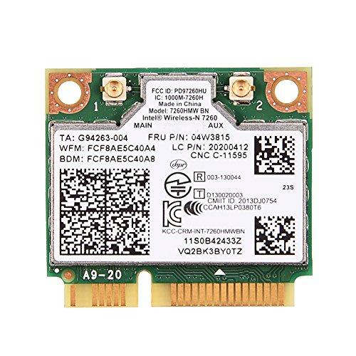 Richer-R Tarjeta WLAN, Tarjeta WiFi para Lenovo, para Intel 7260 BN 802.11b / g/n 04W3815 Módulo de Tarjeta WiFi Mini PCI-E para Lenovo Y510P Y410P Y430P