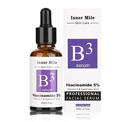 Niacinamid 5% Vitamin B3 Gesichtsserum 30 Ml, Hyaluronsäure Serum Hochdosiert von D.obsessed - Klinisch erprobte Behandlung hilft der Haut Hydratisierung und Verjüngung