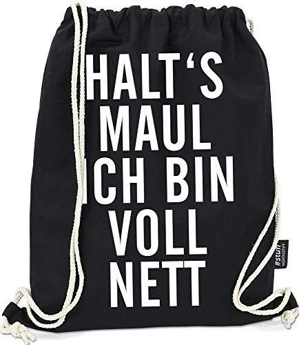Hashtagstuff® Turnbeutel mit Sprüchen Designs auswählbar Kordel Schwarz Spruch Rucksack Jutebeutel Sportbeutel Gymbag Beutel Hipster Nett