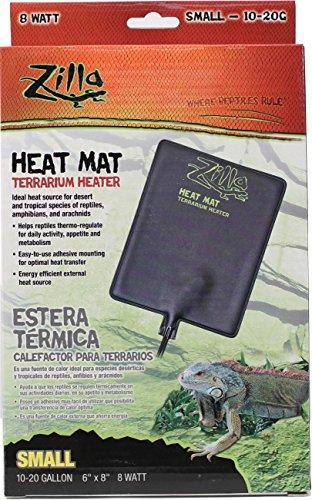 "Zilla Heat Mat Terrarium Heater Small - 8 Watt - 10-20 Gallon Tanks - (6"" x 8"") - Pack of 12"